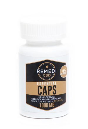 Remedi CBD Essential Capsules THC Free (2 pack) – 50mg